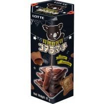 樂天小熊餅乾 濃黑巧克力 37G